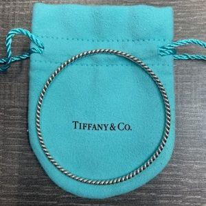 Tiffany & Co Silver Twist Bangle